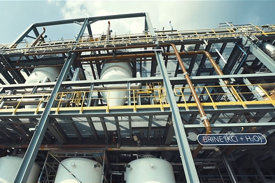 Potassium Hydroxide Membrane electrolysis Facility in Tessenderlo, Belgium