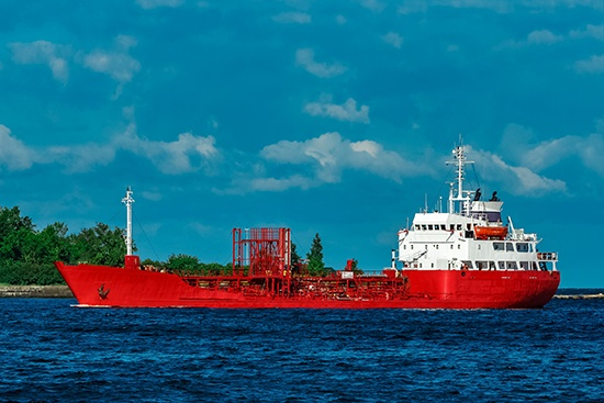 Ethylene Dichloride, sea tanker on the ocean
