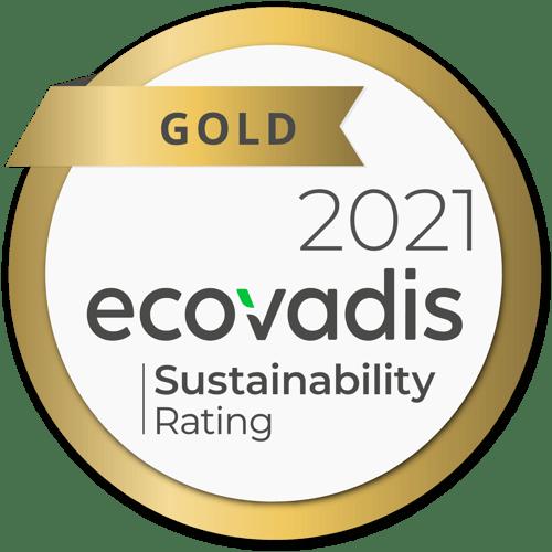 ecovadis gold rating 2021