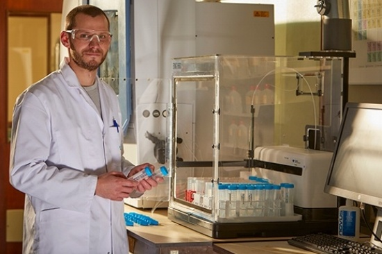Continuous improvement, Vynova researcher working in a laboratory